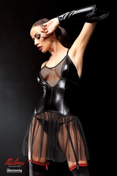 Оригинальное платье Yvone с прозрачным подолом