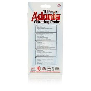 Чёрная анальная пробка 10-Function Adonis Vibrating Probes - 14 см.