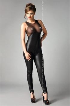 Сексуальный комбинезон Demi с прозрачным верхом