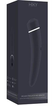 Чёрный вакуумный клиторальный вибромассажер Personal vibrator HIKY