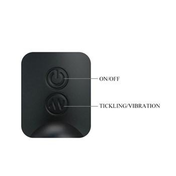 Черный вибростимулятор простаты с имитацией движения пальчика