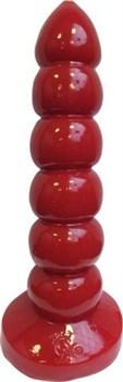 Красная анальная пробка-гигант TSX Prostidude Red - 32 см.