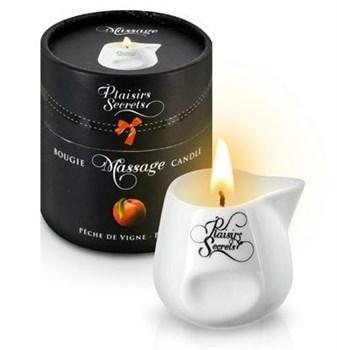 Массажная свеча с ароматом персика Bougie Massage Gourmande P?che - 80 мл.