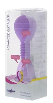 Фиолетовая помпа для клитора PREMIUM RANGE ADVANCED CLIT PUMP