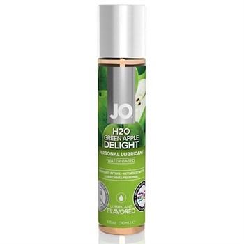 Смазка с ароматом яблока JO Flavored  Green Apple H2O - 30 мл.