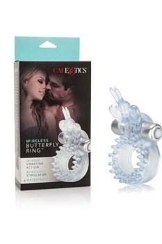 Прозрачное эрекционное кольцо с вибрацией Wireless Butterfly Ring