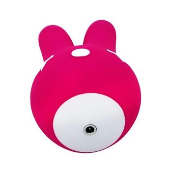 Ярко-розовый вибростимулятор Bunny с ушками