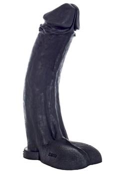 Черный фаллоимитатор-гигант  Мистер Большой  - 45 см.