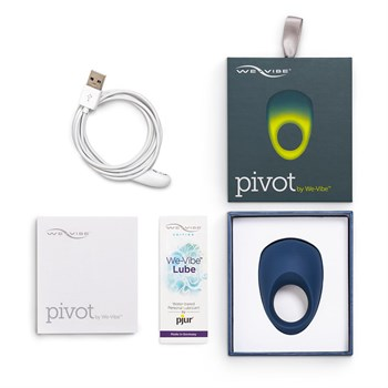 Синее эрекционное виброкольцо We-vibe Pivot