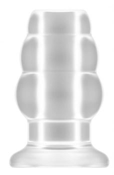 Прозрачная анальная пробка с тоннелем №49 Small Hollow Tunnel Butt Plug 3 Inch - 7,7 см.