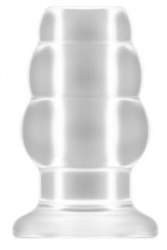 Прозрачная анальная пробка с тоннелем №50 Medium Hollow Tunnel Butt Plug 4 Inch - 10,2 см.