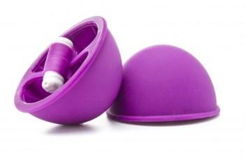 Фиолетовые вакуумные присоски с вибрацией Vibrating Suction Cup