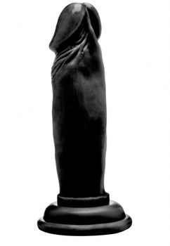 Чёрный фаллоимитатор Realistic Cock 6  - 15 см.