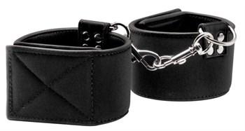 Чёрные двусторонние оковы на ноги Reversible Ankle Cuffs