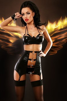 Сексуальный комплект Gothic с металлическим декором