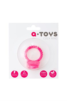 Розовое силиконовое виброкольцо A-toys