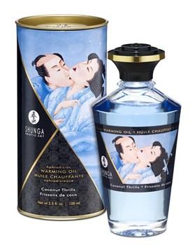 Массажное интимное масло с ароматом кокоса - 100 мл.