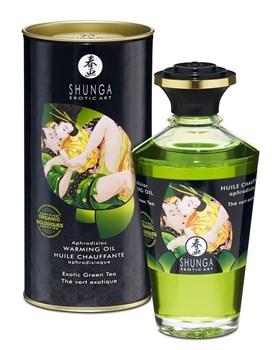 Массажное интимное масло с ароматом зелёного чая - 100 мл.