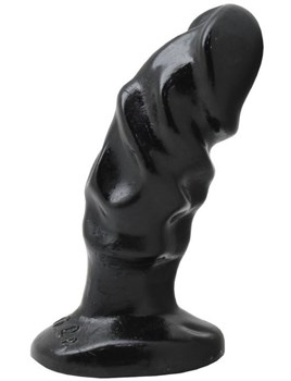 Чёрная анальная пробка-фаллос - 13 см.