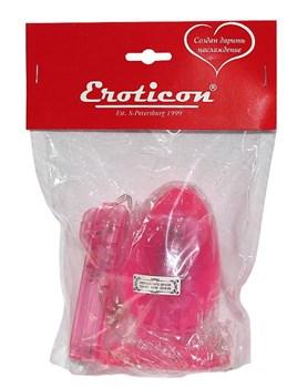 Розовая вибропробка с выносным пультом - 11 см.