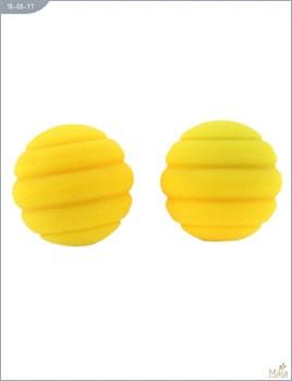 Металлические шарики Twistty с жёлтым силиконовым покрытием