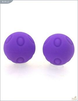 Металлические шарики Wicked с фиолетовым силиконовым покрытием