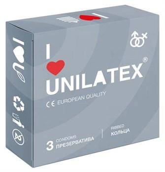 Презервативы с рёбрами Unilatex Ribbed - 3 шт.