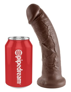 Коричневый фаллоимитатор 8  Cock - 20,3 см.