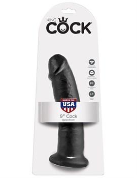 Чёрный фаллоимитатор 9  Cock - 22,9 см.