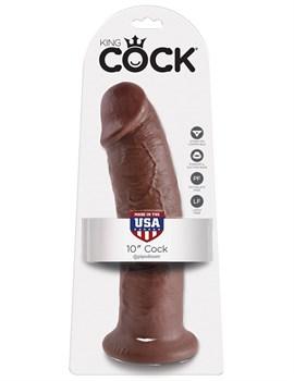 Коричневый фаллос-гигант 10  Cock - 25,4 см.