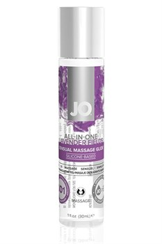Массажный гель ALL-IN-ONE Massage Oil Lavender с ароматом лаванды - 30 мл.
