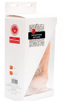 Фаллос на присоске с вибрацией - 23,5 см.