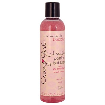 Съедобный гель для душа с феромонами PASSION BUBBLES с ароматом ванили и мяты - 237 мл.
