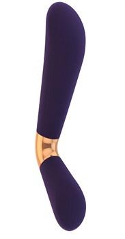 Фиолетовый силиконовый вибратор Mellea - 22,1 см.