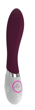 Бордовый вибратор BEAUTY для G-стимуляции - 19,8 см.
