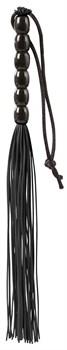 Чёрная мини-плеть из резины Rubber Mini Whip - 22 см.