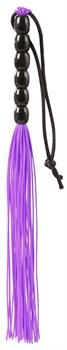Фиолетовая мини-плеть из резины Rubber Mini Whip - 22 см.