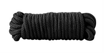 Чёрная хлопковая верёвка Bondage Rope 16 Feet - 5 м.