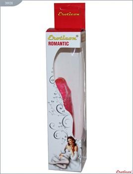 Гелевый розовый фаллоимитатор без мошонки - 17 см.