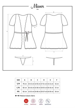 Пеньюар Miamor с короткими рукавами