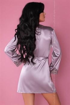 Роскошный ночной комплект Jacqueline: пеньюар, сорочка и трусики-стринги