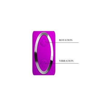 Вибромассажер с клиторальным стимулятором-ротатором Magic Tongue