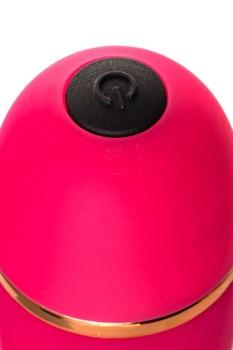 Розовый вибратор с шаровидной головкой - 20 см.