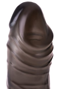 Дымчатая закрытая насадка с подхватом и анальным стимулятором