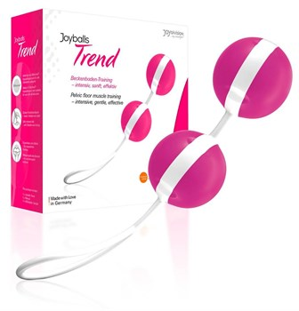 Ярко-розовые вагинальные шарики Joyballs Bicolored