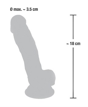 Реалистичный фаллоимитатор из силикона Medical Silicone Dildo - 18 см.