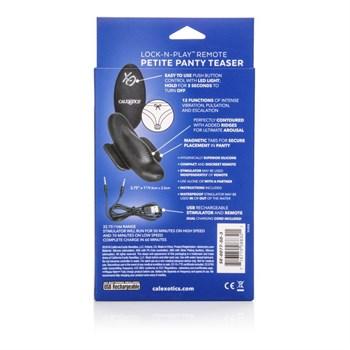 Чёрный вибростимулятор для ношения в трусиках Lock-N-Play Remote Petite Panty Teaser