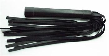 Чёрная плеть из нежной кожи - 45 см.