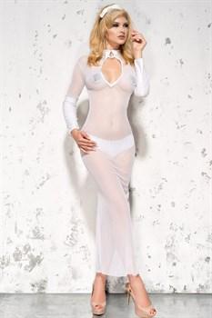 Полупрозрачное длинное платье Sarah