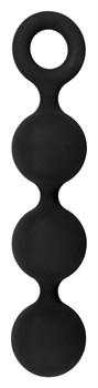 Чёрная анальная цепочка Lust Anal Beads - 19,5 см.
